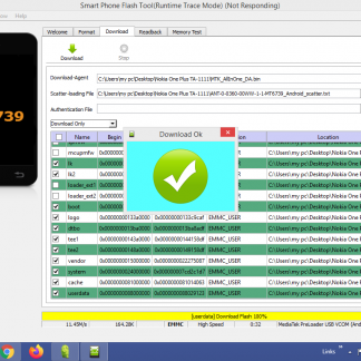 NOKIA 1 PLUS TA-1111 FIRMWARE Flashing BY SP FLASH TOOL
