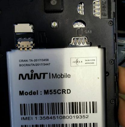 Mint M55CRD Firmware MT6580 7.0
