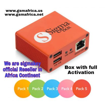 Sigmakey Box with Pack 1 + Pack 2 + Pack 3 + Pack 4 + Pack 5 Activation