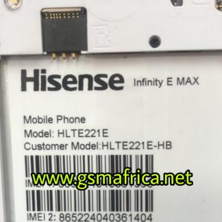 Hisense Infinity E Max (HLTE221E)HB FIRMWARE SPD Pac